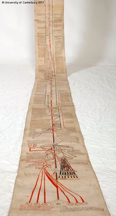 The almost 600-year-old Canterbury Roll spans some 16 feet.