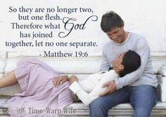So they are no longer two but one flesh...