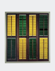 Glass Window Blinds. Either by Corning or Brooklyn Flint Glass Works. On display at the Corning Museum of Glass