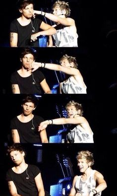 I love Nouis so much.<<< Louis is like... Niall seriously your so immature and I'm sure Niall is thinking of a twirling garden gnome singing the Macarena