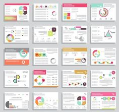 25 cards for business reports. Business Infographic. $5.00