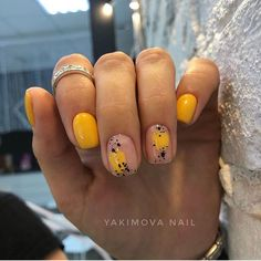 """Excellent """"gel nail designs for fall colors"""" info is readily available on our site. Have a look and you wont be sorry you did. Dream Nails, Love Nails, Pretty Nails, My Nails, Yellow Nails, Pink Nails, Nailart, Sassy Nails, Minimalist Nails"""