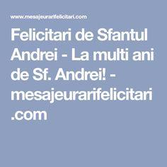 Felicitari de Sfantul Andrei - La multi ani de Sf. Andrei! - mesajeurarifelicitari.com