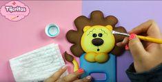 Cubre interruptor de goma eva con forma de león - Manualidades en Goma Eva y Foami Rain Fall, Recycled Tin Cans, Craft Videos, Cover, Jelly Beans, Crates