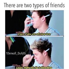 One Direction meme>>two types of people... >>> I am Louis !
