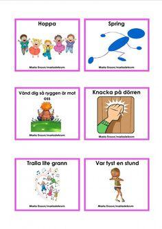 Mariaslekrum - Uppdragskort Educational Activities For Kids, Outdoor Activities, Kids Learning, Learn Swedish, Swedish Language, Kids Planner, Brain Breaks, Preschool Crafts, Teaching Resources