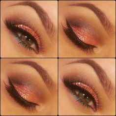 Tangerine Glitter eyes ♥
