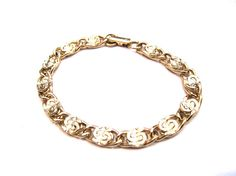 SALE Vintage Sarah Coventry Gold Tone Echo Myriad Link by ditbge, $6.75