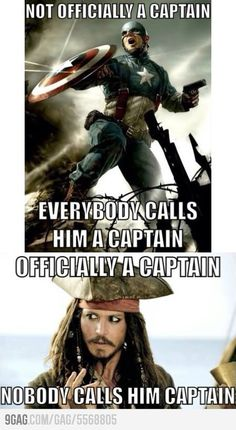 Poor Jack. But the Sheldon Cooper in me wants to let everyone know Steve Rogers was a Captain in the Untied States Army.