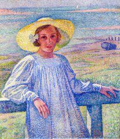 Elisaeth van Rysselberghe in a Straw Hat, 1901  Theo van Rysselberghe