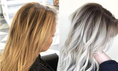 """This color correction is by Habit Salon Hairstylist, Becky Miller. If you visit her Instagram, @beckym_hair, you'll find ashy beach blonde inspiration for days and a bevy of color corrections she did with Olaplex! She gave us the formula for this gorgeous yellow to hello transformation below: Step 1: Full head of highlights using Goldwell Silk Lift 30 volume + Olaplex No.1 … Continue reading """"Brassy Yellow Blonde to Shadow Rooted Platinum"""""""