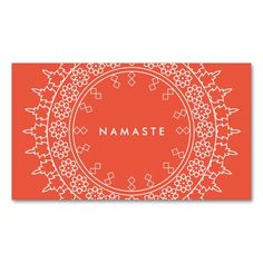Elegant Mandala Namaste Yoga Coral Business Card. This great business card design is available for customization. All text style, colors, sizes can be modified to fit your needs. Just click the image to learn more!