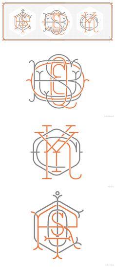 Ornate type inspiration - Types & Monograms by Jorge Mercado, via Behance