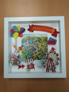 Gift idea – a day in the amusement park. Gift idea – a day in the amusement park. Gift idea – a day in the amusement park. Gift idea – a day in the amusement park. Amusement Park, Stampin Up, Diy And Crafts, Presents, Birthday, Frame, Roman, Gifts, Gift Boyfriend