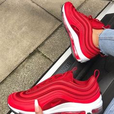 promo code 38937 a9f98 Nike Air Max 97 OG Red White Sneakers Timberland, Nike Red Sneakers, Red  Puma
