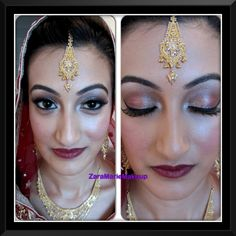 Traditional Asian Bridal makeup: This makeup is done by myself @Zara Findlay, for my beautiful cousin on her wedding day. I've used Urban Decay cosmetics, which is definitely in my top 3 fav cosmetics!! Here are my steps:  (All cosmetics from Urban Decay)   1⃣ Apply eye primer potion all over lid till brow bone and a little on the bottom lash line. 2⃣Apply a Matt base colour all over the lid till brow bone. I've used naked matt eyeshadow. This is important as it ensures that prior eyeshadows…