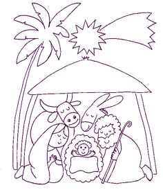 awesome Christmas Coloring Pages Preschool Christmas, Christmas Nativity, Christmas Crafts For Kids, Christmas Colors, Nativity Coloring Pages, Jesus Coloring Pages, Christmas Coloring Pages, Embroidery Patterns Free, Machine Embroidery Designs