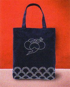 Sashiko Tote Kit Japanese Traditional Stitching/Quilting on Etsy, US$25.00