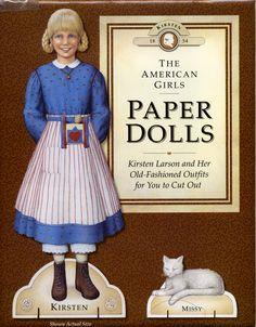 american girl kirsten paper dolls - Google Search