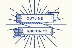 This is a set of 14 retro outline ribbon vectors with a subtle retro and classic style to help you complement...