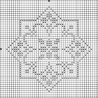 Gallery.ru / Фото #3 - Игольници - siuvinetoja Biscornu Cross Stitch, Cross Stitch Borders, Counted Cross Stitch Patterns, Cross Stitch Designs, Cross Stitching, Crochet Table Runner Pattern, Crochet Tablecloth, Bead Crochet Rope, Crochet Cross