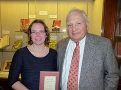 Bibliophiles gathered to celebrate the publication of Rebecca Rego Barry's first book, 'Rare Books Uncovered: True Stories of Fantastic Finds in Unlikely Places' (Quarto/Voyageur Press), at New York City's Grolier Club earlier this month. Barry (left) is pictured here with author Nicholas Basbanes who wrote the foreword to her book. Photo: Brett Barry