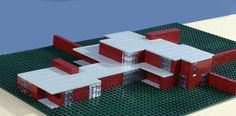 LEGO - Mies van der Rohe's Brick Country House | Image courtesy of Gary Garvin.
