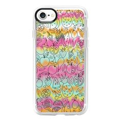 Fruit Stripes - iPhone 7 Case And Cover ($40) ❤ liked on Polyvore featuring accessories, tech accessories, iphone case, iphone cover case, iphone cases, clear iphone case and apple iphone case