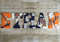 Detroit Tigers-Custom Hand Painted Letters by ccreationsbyashley
