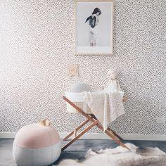 Lipstick for walls – Wallpaper Edit Part 2   Design Soda : Interiors Blog  Scallop Dots wallpaper, by Rust,
