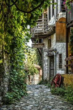 Litochoro village, Pieria region near Katerini town, Macedonia, Greece Beautiful Islands, Beautiful World, Beautiful Places, Beautiful Scenery, Forest Mountain, Italy Holidays, Romantic Pictures, Historical Monuments, Paradise On Earth