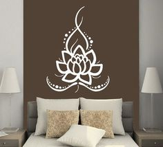 Wall Decals Yoga Lotus Indian Buddha Decal Vinyl Sticker Home Decor Bedroom Interior Design Art Mural MS625