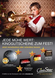 CineStar Weihnachtsgutschein-Kampagne