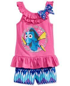 Nannette Little Girls' 2-Piece Dory Tank & Shorts Set