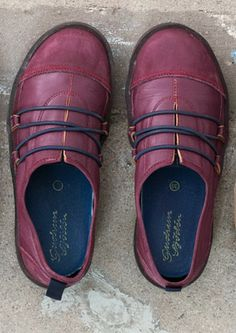 Nubuck and nappa leather walking shoes by GUDRUN SJÖDÉN ☼
