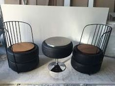 Drum Chair, Barrel Furniture, Oil Drum, Old Tires, Craft Night, Man Cave, Repurposed, Diy And Crafts, House Plans