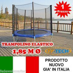 TRAMPOLINO-ELASTICO-DA-GIARDINO-1-85-M-185-TAPPETO-ELASTICO-ESTERNO-SPORT-RETE