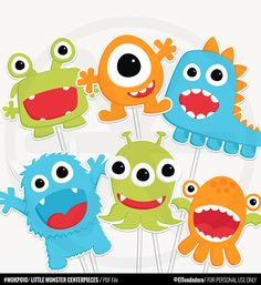 Little Monster Centerpieces - Funny Little Monster Birthday Decorations. Little Monster Birthday, Monster 1st Birthdays, Monster Birthday Parties, Birthday Party Tables, Birthday Party Decorations, Baby Shower Decorations, Birthday Ideas, Halloween Decorations, Kids Party Centerpieces