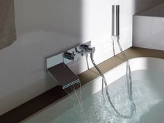 Wall Mount Waterfall Faucet for Stylish Bathroom by Zucchetti
