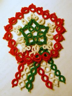 Crochet Jewellery, Needle Tatting, Tatting Patterns, Christmas Wreaths, Quilting, March, 1, Holiday Decor, Diy And Crafts
