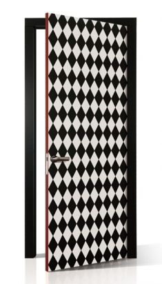 Create an intense impact by using design contrasts. Door model NR.25 Black & White collection | Haute Couture