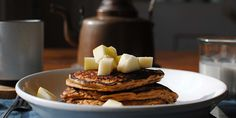 These healthy Gingerbread Protein Pancakes are light and fluffy like regular pancakes, but thanks they also pack a high-protein punch. Get the recipe. Healthy Breakfast Recipes, Healthy Cooking, Healthy Food, Protein Recipes, Healthy Recipes, Healthy Breakfasts, Healthy Treats, Yummy Recipes, Cooking Tips