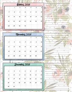 more information more information 2018 monthly calendar