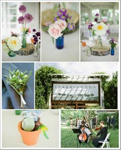 I love these center pieces, def looking for something elegant and simple--Chapel Hill North Carolina Rustic Wedding: Bridget   Trevor Part II