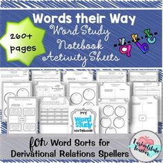 The Derivational Relations Stage; Words Their Way, Level E