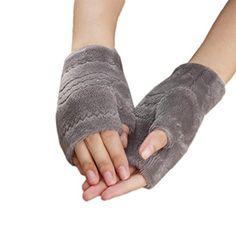 Tenworld Women Girl Winter Gift Thick Warm Gloves Soft Fingerless Mittens Hot (Gray) - http://todays-shopping.xyz/2016/08/09/tenworld-women-girl-winter-gift-thick-warm-gloves-soft-fingerless-mittens-hot-gray/