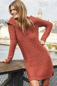 Cowled Sweater Dress