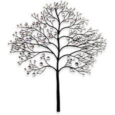Indoor/Outdoor Cast Iron Bird Branch Wall Art | Metal Wall ...