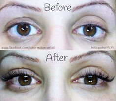 Classic individual eyelash extensions by Sahar Makeup & Beauty based in Stanmore (north London) near bushey heath
