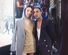 Irene Kim and Olivier Rousteing  (Foto: Hunje Jo @johunje29)